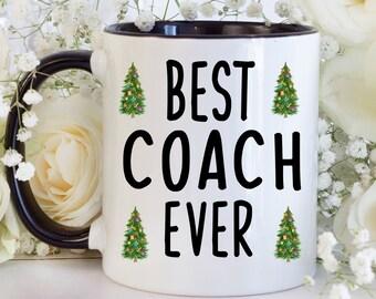 christmas gift for coach christmas gift coach christmas mug best coach ever mug with watercolor christmas trees coach gifts