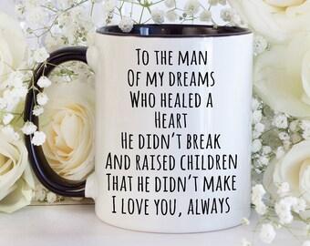 Husband Gift Appreciation For Sentimental Step Dad Gifts From Wife Mug Birthday