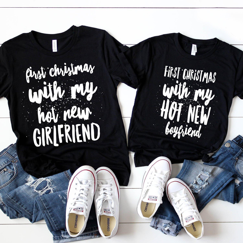 Girlfriend And Boyfriend Christmas Matching Shirts Couple Etsy