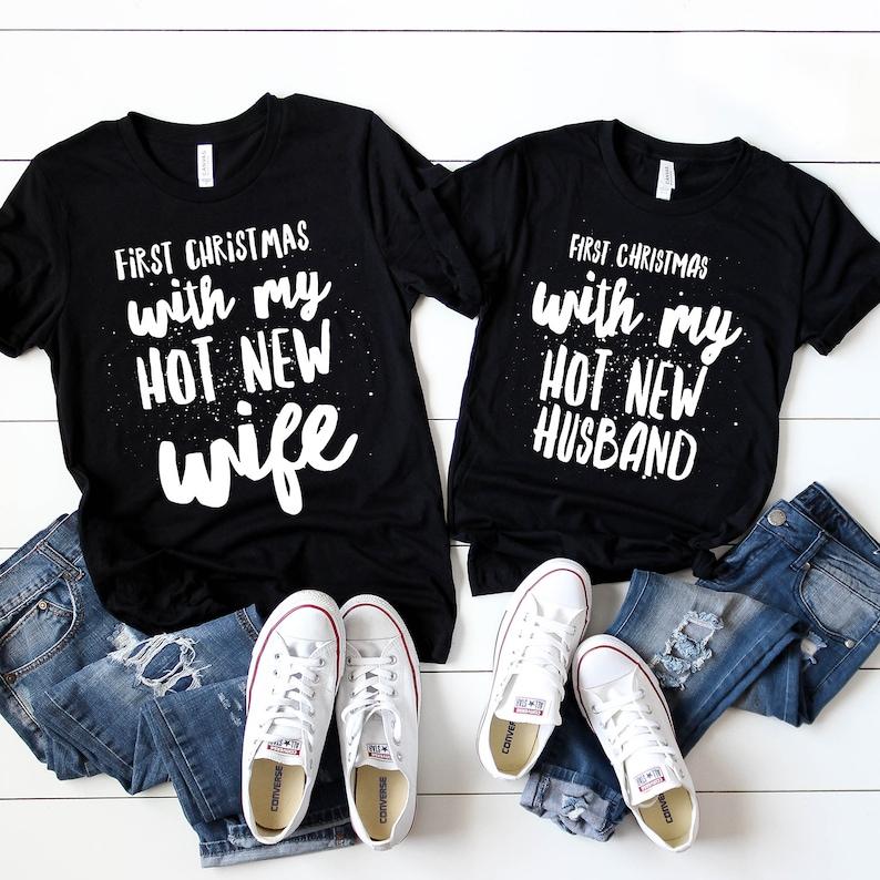 49b4bfe42bdb Husband and Wife Christmas Matching Shirts Mr   Mrs Christmas