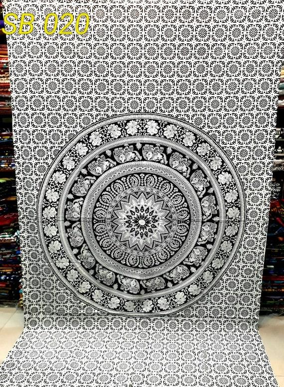 Indian Tapestry Hippie Mandala Wall Hanging Bohemian Bedspread Dorm Decor Throw