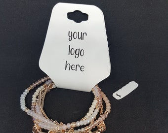 Jewelry - Necklace - Headband - Bracelet - Foldover Hang Tags - Price Tags - Logo Tags