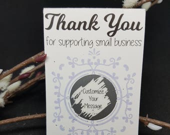 Thank You For Supporting Small Business - Scratch Off Cards - Loyalty Cards