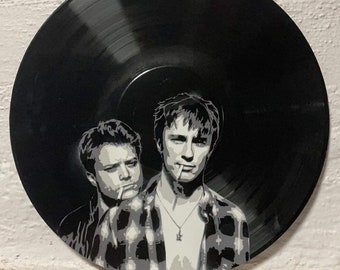 Drew and Rudy Vinyl Record Art
