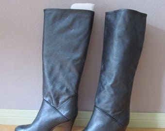 Vintage BANDOLINO Metallic Leather Boots Size 7N Italy