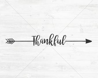 Thankful Arrow Cut File, SVG, DXF, png, jpg, eps, Instant Download, Silhouette Cameo/Cricut Cutting File