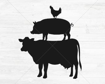 Stacked Farm Animals Etsy