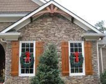 Exceptionnel CUSTOM Pair Of Cedar Window Shutters **FREE SHIPPING**
