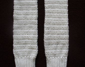 Crocheted lacey leg warmers| made to order| custom item| one size fits most| crochet