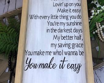 You Make it Easy | Jason Aldean | Song Lyrics | Love Song | First Dance | Wedding Song