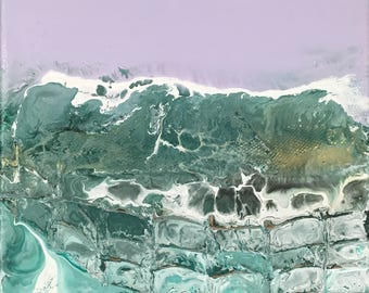 acrylic abstract water and landscape