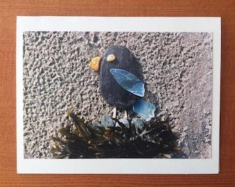 Mama Bird notecard - Willard Beach, ME