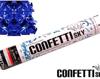 "12"" Blue Mylar Confetti Cannon | Wedding Favor | Party Popper | Smoke Alternative | Balloon Alternative | Table Decor"