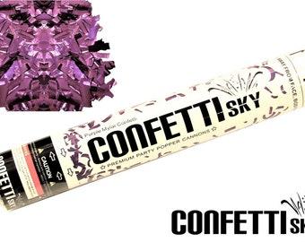 "12"" Purple Mylar Confetti Cannon | Wedding Favor | Party Popper | Smoke Alternative | Balloon Alternative | Table Decor"