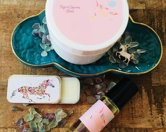 Unicorn,perfume, lotion, lip gloss, unicorn gift set, unicorn birthday gift, unicorn party, unicorn Christmas gift, unicorn party favors