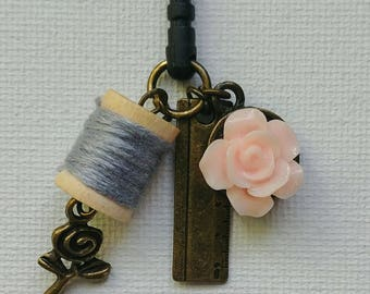 Sewing Cell Phone Charm