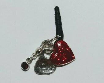 Love Cell Phone Charm