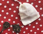 Reusable Tea Bags with Drawstring 100 Cotton Tea Filter Bags Muslin Tea Bags Washable Tea Bag Zero Waste Natural