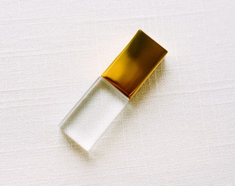 Gold and Crystal USB 16GB Flash Drive