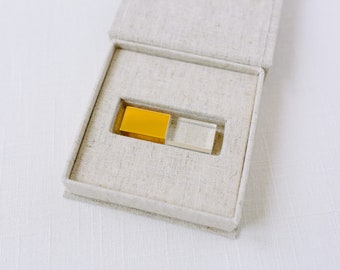 Wedding USB Linen Photo box | Linen Box | Photographers packaging| USB box