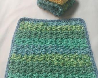 Crocheted Dishcloth, Crocheted Washcloth