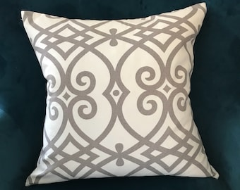 Blue and natural pillow cover ,sofa pillow cover