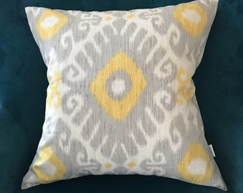 Grey and yellow pillow cover ,sofa pillow cover
