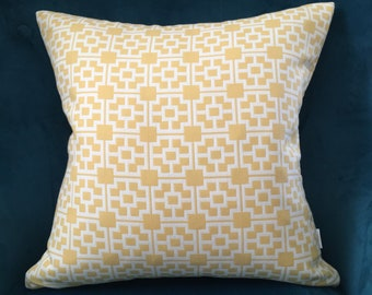 Yellow white pillow cover ,sofa pillow cover