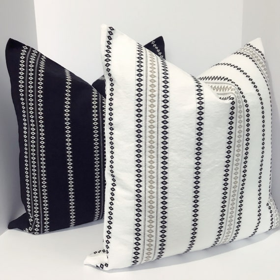 Swell Black And White Striped Pillow Cover For Sofa Pillow Cover Bralicious Painted Fabric Chair Ideas Braliciousco