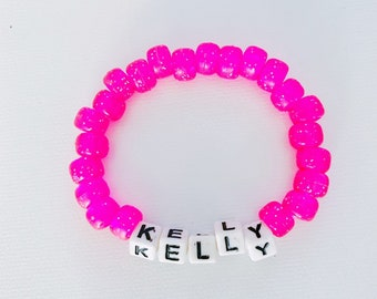 Custom NAME beaded bracelet (1 Color)