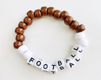 """Brown Beaded Bracelet """"Football"""" Fall VSCO bracelet"""