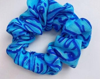 Blue Scrunchie (Handmade with FREE Shipping)