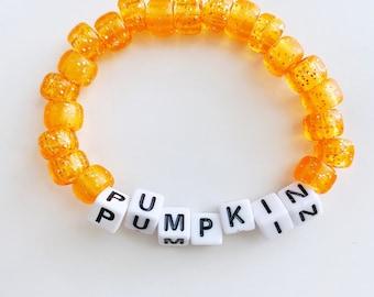 """Orange Beaded Bracelet """"Pumpkin"""" Fall VSCO bracelet"""