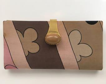 Vintage Emilio Pucci billfold/checkbook wallet