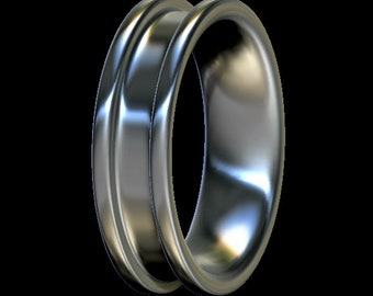 Inlay Ring Core, Comfort Fit, Sterling Silver, For Ring Making