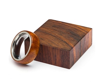 Desert Ironwood Wood Ring, and Stainless Steel Core ring, Classic Wood Ring, Wood Ring for Men, Wood Ring for Women, Wedding Band