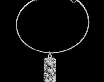 Semicolon Flower Awareness charm bracelet