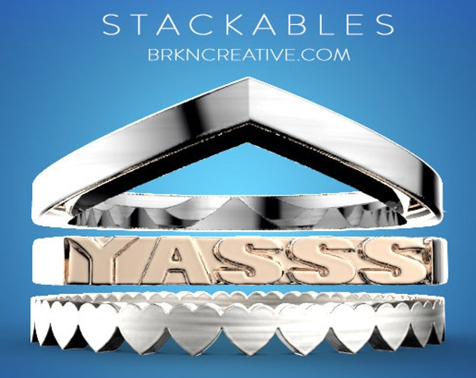 3 Piece Stacking Ring Set from our Stackables Collection