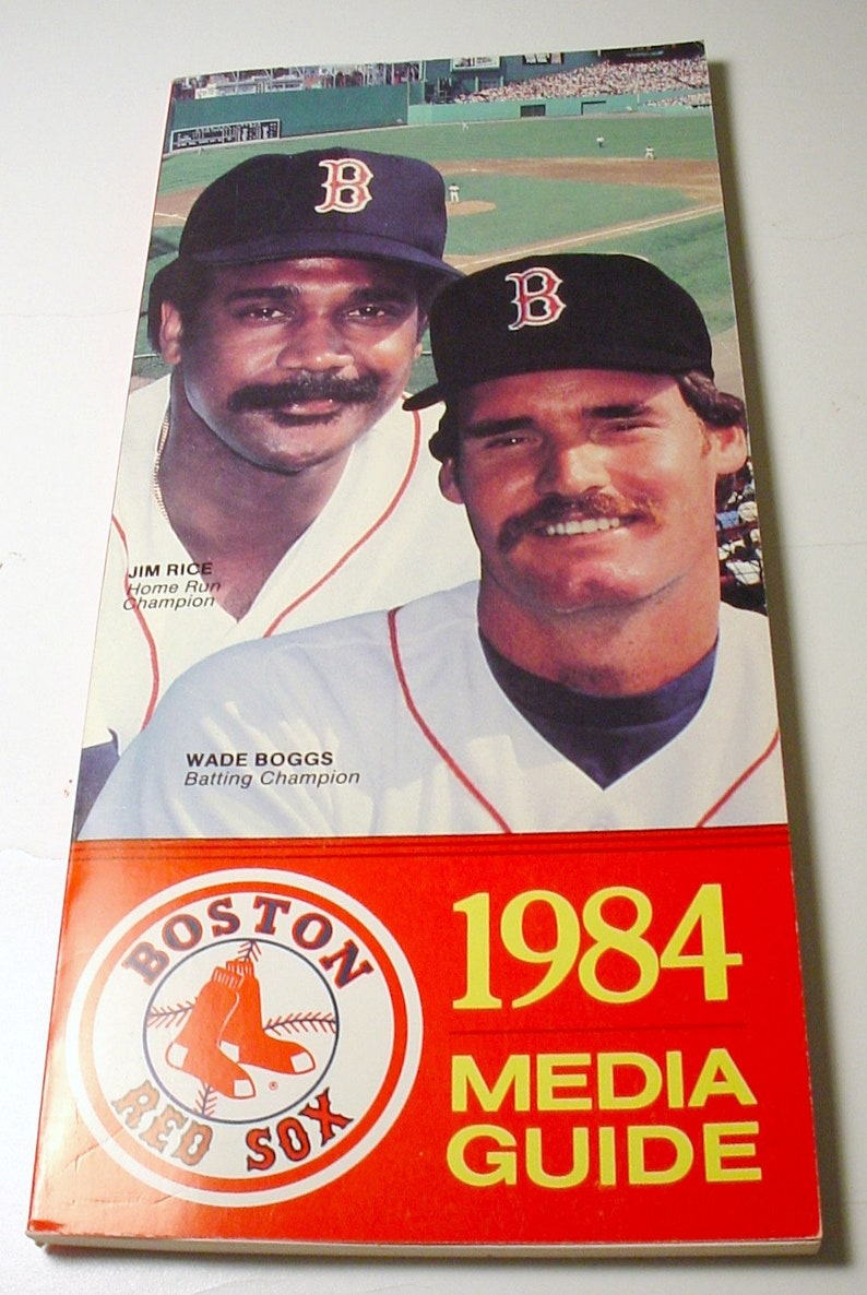 Good Condition 1984 Boston Red Sox Media Guide 116 Pages Unused