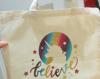Unicorn Believe Tote Bag
