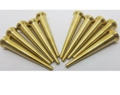 10 COUNT Professional SOLID BRASS Turned Caning Pegs cane woven fancy tool