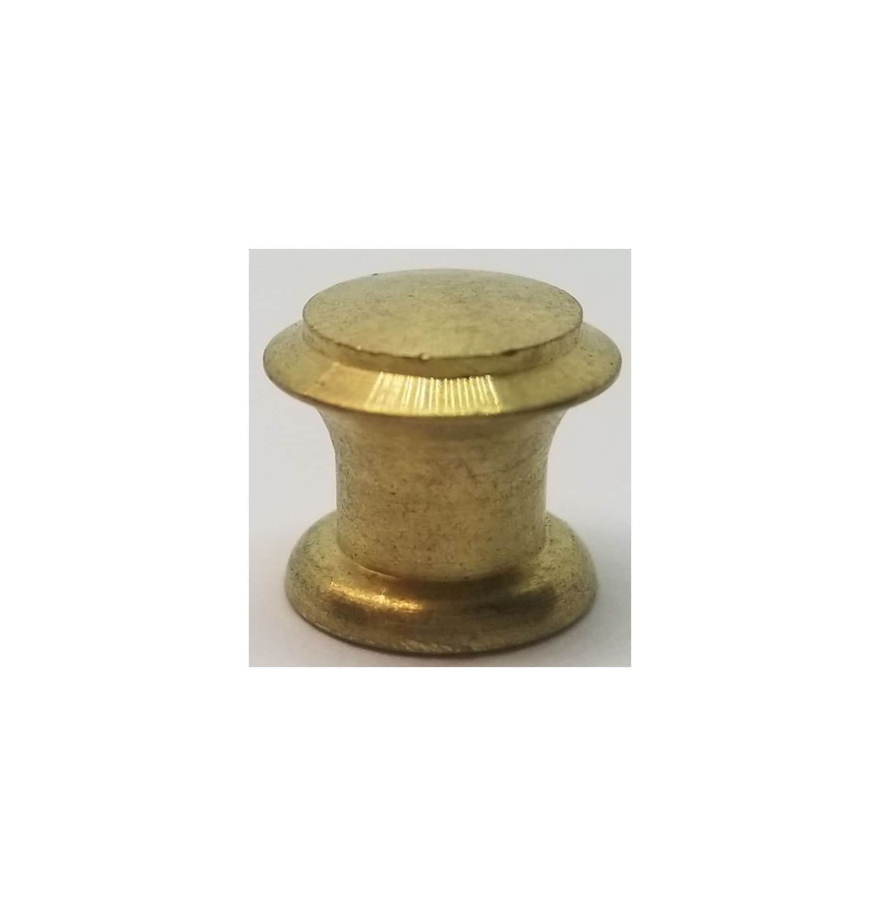 1 2 Half Inch Solid Brass Small Turned Round Knob Pull Drawer Door Desk Barrister Lawyer Bookcase Tiny Little