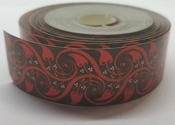 4 RED TRUNK INTERIOR corners decoration decal sticker decoration chest Steamer