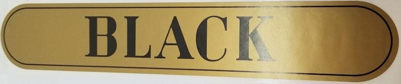 Clark/'s Black Spool Cabinet Decal thread vintage antique old sticker drawer