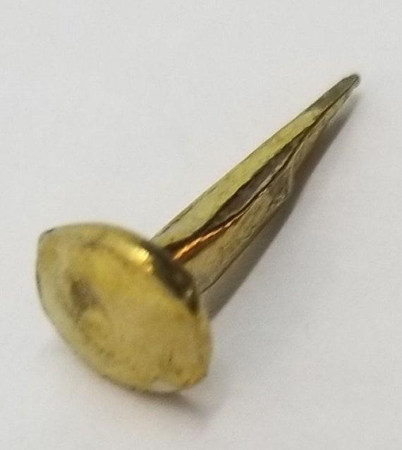 """Brass Trunk Nails 1/"""" Long 1//4 LB Bag chest steamer antique vintage old tacks"""