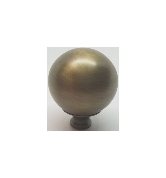 "3//8/"" Thread Brass Bed Finial Cannon Ball Bed Frame 2/"" Diameter X 2 1//2/"" High"