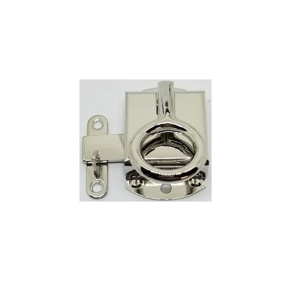 Nickel Right Hand Ring Wilson Napanee Cabinet Latch door Hoosier Sellers antique