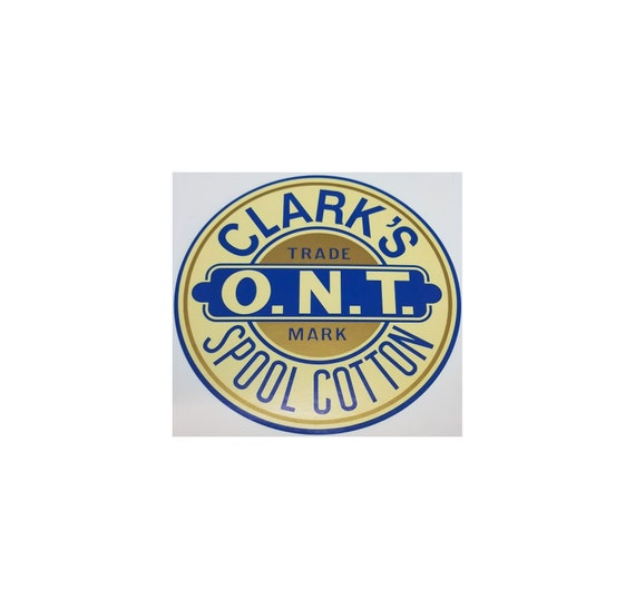 """Clark/'s /""""Colors/"""" Spool Cabinet Decal thread vintage antique old sticker"""