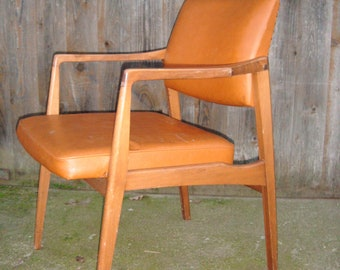 Sessel Holz Polsterstuhl Mit Kunstleder Danish Vintage 60er Jahre *Erich*  Fit Your Own Project By Pimp Factory.com