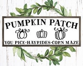 Pumpkin Patch svg, Pumkin Patch Sign svg, Fall svg, Fall Sign svg, Pumpkin svg, Farmhouse Sign Design, svg file for cricut silhouette, png